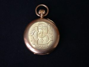 George Trotter Brockett's watch and initials - courtesy of Richard Brocket