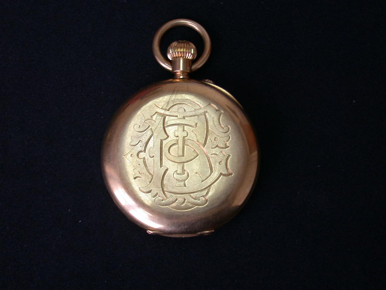 George Trotter Brockett's watch and initials