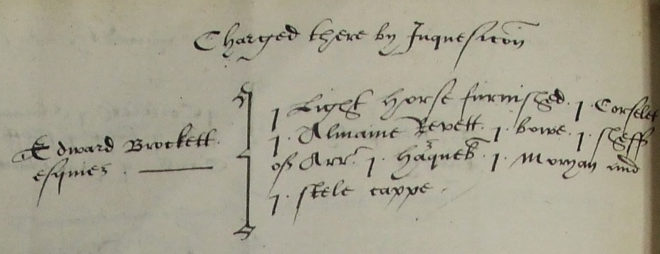 Edward Brockett Bucks muster 1569
