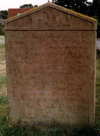 Sarah Brockett nee RULE d 1847