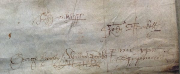 John Brokett and colleagues' signatures 1572 E179/121/224