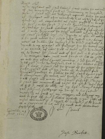 Sir John Brokett to Sir Robert Cecil Dublin 23 June 1601