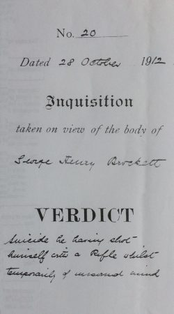 Inquisition on George Henry's death 1912