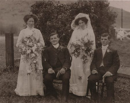 Arthur and Albert Brocket's Wedding 1910 NZ