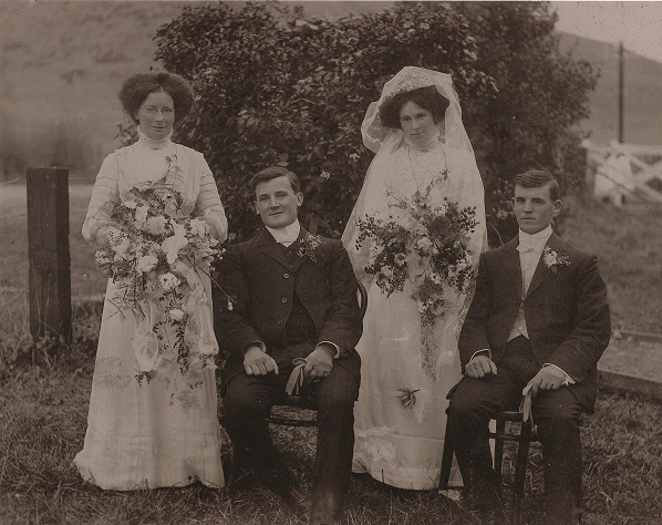 Arthur and Albert Brocket's Wedding 1910