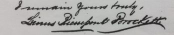 Linus Pierrepont Brockett Signature 1884
