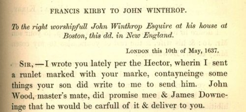 Kirby to Winthrop 1637 Calder n 92 40