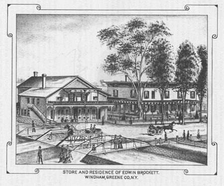 Edwin Brockett's store and residence in Windham, Greene County