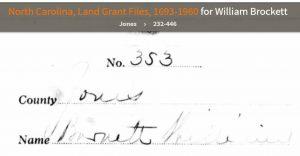 Wm Barnett 1790 Ancestry entry