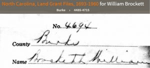 Wm Brackett 1829 Ancestry entry