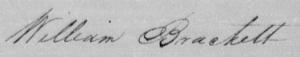 Wm Brackett 1829 Burke NC