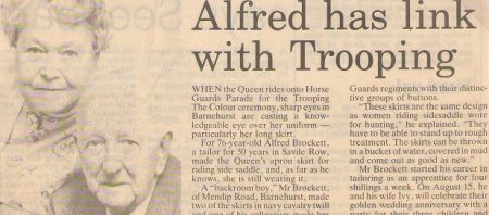 Alfred and Ivy Brockett 50th newspaper report