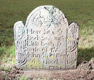 Grave of Elizabeth Brockett d 1731