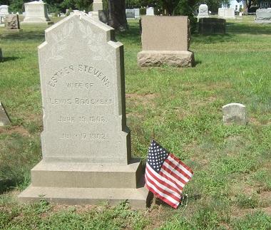 Grave of Ester Stevens d 1902