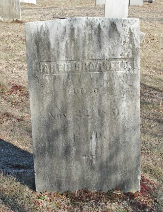 Grave of Jared Brockett d 1851