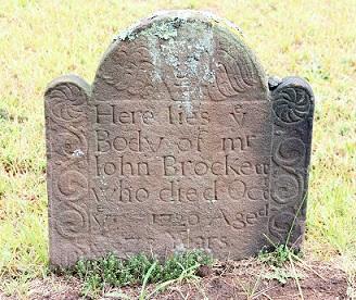 Grave of John Brockett d 1720
