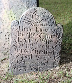 Grave of Lydia Brockett d 1742
