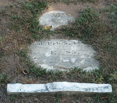 Grave of Mary Polly Brockett d 1869