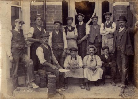 Philip and Frank 3rd back left c 1900