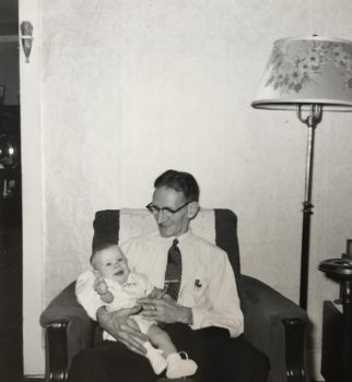 Richard Lewis Brockett and grandson 1954