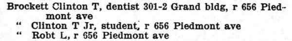 Atlanta GA City Directory 1902