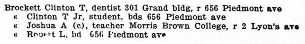 Atlanta GA City Directory 1903