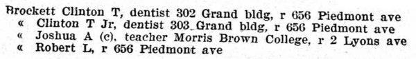 Atlanta GA City Directory 1904
