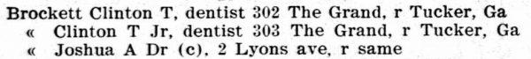 Atlanta GA City Directory 1905