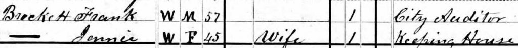 Frank and Jennie Brockett 1880 census VA