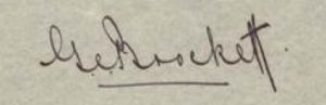 George Edward Brockett's signature 1938