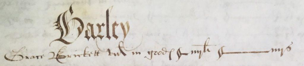 Grace Brickett of Barley tax 1572