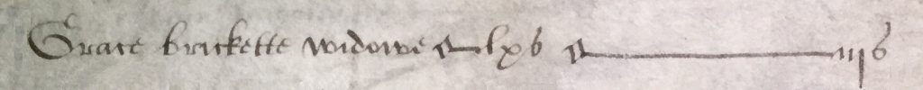 Grace Brickette of Barley tax 1567