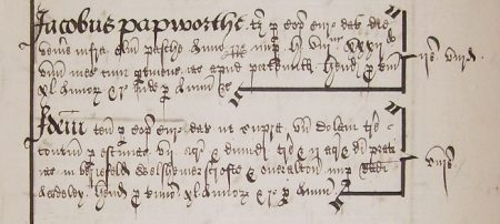 James Papworth's copyhold property 1556