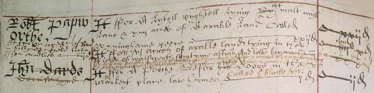 Robert Papworthe properties 1591 pt2