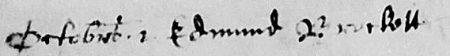Edmund Brockett bap Harpenden 1565