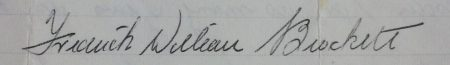 Frederick William Brockett's signature 1967