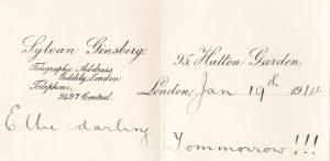 Frank Brockett letter 1914