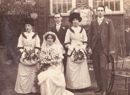Frank and Ellen Brockett bridal group 1914