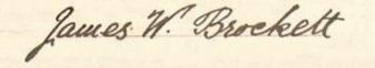 James William Brockett signature 1897