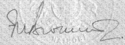 FN Brockett signature 1966