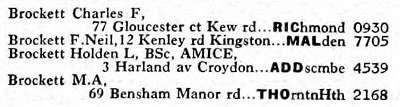 Sussex phone directory 1971