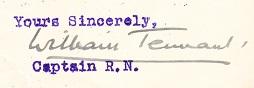 William Tennant signature 1940