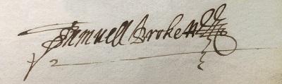 C24_645 Samuel Brockett 1640 signature