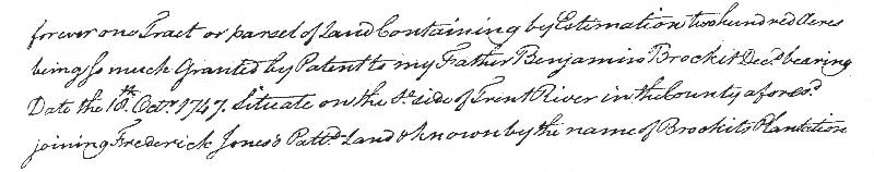 Craven Co 1773 deed