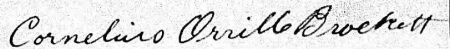 Cornelius O Brockett signature 1917