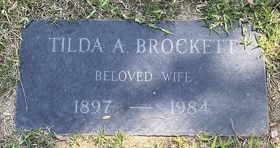 Tilda A Brockett gravestone