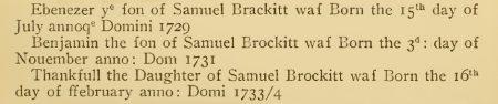 Benjamin Brockitt b 1731 NHV p 193