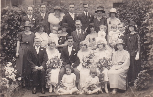 Lilian Brockett's wedding 1924 East Ham