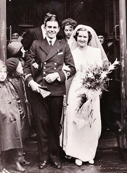 Neil and Doreen Brockett wedding 1940