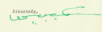 President Tubman's signature 1969